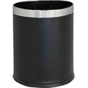 Корзина металлическая OPTIMUM, для бумаги, черная (10 л) фото, купить в Липецке | Uliss Trade