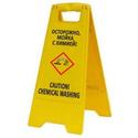 """Раскладная предупреждающая табличка """"Осторожно, мойка с химией!"""" фото, купить в Липецке   Uliss Trade"""