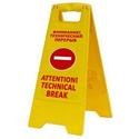 """Раскладная предупреждающая табличка """"Внимание! Технический перерыв"""" фото, купить в Липецке   Uliss Trade"""