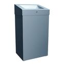 Корзина для мусора с конусным отверстием металлическая MERIDA STELLA PLUS (матовая) 47 л фото, купить в Липецке | Uliss Trade