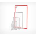 Пластиковая рамка с закругленными углами формата А1 PF-A1 фото, купить в Липецке | Uliss Trade