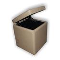 Банкетка куб (бежевый) с откидной крышкой BN-011 фото, купить в Липецке | Uliss Trade