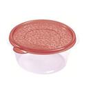 Контейнер для продуктов круглый 0,75 л 15*7,5см п/п бордовый фото, купить в Липецке   Uliss Trade
