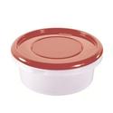 Контейнер для продуктов круглый 0,9 л 15,5*6,5см п/п бордовый фото, купить в Липецке   Uliss Trade