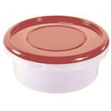 Контейнер для продуктов круглый 1,7 л 18*8см п/п бордовый фото, купить в Липецке   Uliss Trade