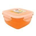 """Контейнер для продуктов квадр. 0,6 л 13*13*7см п/п оранжевый """"SAFE-FOOD"""" фото, купить в Липецке   Uliss Trade"""