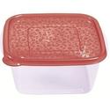 Контейнер для продуктов квадр. 2,1 л 19*19*9см п/п бордовый фото, купить в Липецке   Uliss Trade