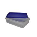 Контейнер для продуктов прямоуг. 1,3 л 22*14,5*6см с синей крышкой фото, купить в Липецке   Uliss Trade