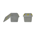 Контейнер для продуктов прямоуг. 8 л 30*23*16 см с ручкой с желтым зажимом фото, купить в Липецке   Uliss Trade