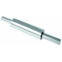 Скалка нерж. сталь с вращающейся ручкой d=7,5см l=25см фото, купить в Липецке   Uliss Trade