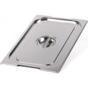 Крышка Luxstahl из нержавеющей стали для GN 1/1 с ручками фото, купить в Липецке | Uliss Trade