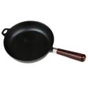 Сковорода чугунная 220/50 с деревянной ручкой Luxstahl фото, купить в Липецке | Uliss Trade