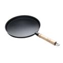Сковорода чугунная блинная 240/15 с деревянной ручкой Luxstahl фото, купить в Липецке | Uliss Trade