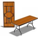 Стол складной на Д-образном подстолье 2400х900х750 фото, купить в Липецке | Uliss Trade