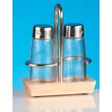 Набор для специй (соль, перец) на деревянной подставке Luxstahl арт. кт1059 фото, купить в Липецке | Uliss Trade