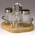 Набор для специй (соль, перец, зубочистки) на деревянной подставке Luxstahl фото, купить в Липецке | Uliss Trade