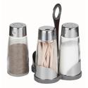 Набор для специй (соль, перец, зубочистки) на пластиковой подставке Luxstahl фото, купить в Липецке | Uliss Trade