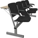 Блок стульев М116-034  с откидными сиденьями фото, купить в Липецке | Uliss Trade