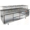 Стол морозильный под тепловое оборудование HICOLD SN 122/BT LT фото, купить в Липецке | Uliss Trade