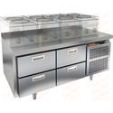 Стол морозильный под тепловое оборудование HICOLD SN 22/BT LT фото, купить в Липецке | Uliss Trade