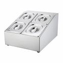 Диспенсер для выкладки на 4 гастроемкости GN1/6-10см фото, купить в Липецке | Uliss Trade