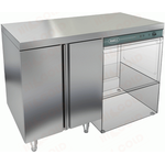Стол закрытый под посудомоечную машину с полкой HICOLD НБМСЗКП-12/7П фото, купить в Липецке | Uliss Trade