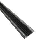 Алюминиевая противоскользящая накладка на ступени с черной резиновой вставкой фото, купить в Липецке | Uliss Trade