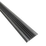 Алюминиевая противоскользящая накладка на ступени с серой резиновой вставкой фото, купить в Липецке | Uliss Trade