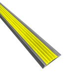 Алюминиевая противоскользящая накладка на ступени с желтой резиновой вставкой фото, купить в Липецке | Uliss Trade