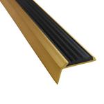 Угловая алюминиевая противоскользящая накладка на ступени с резиновой вставкой арт.5790134 фото, купить в Липецке | Uliss Trade