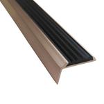 Угловая алюминиевая противоскользящая накладка на ступени с резиновой вставкой арт.5790142 фото, купить в Липецке | Uliss Trade