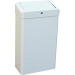 Корзина для мусора из эмалированной стали с крышкой MERIDA STELLA WHITE 27 л фото, купить в Липецке | Uliss Trade