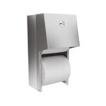 Держатель туалетной бумаги для двух бытовых рулонов металлический матовый фото, купить в Липецке | Uliss Trade