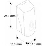 Дозатор картриджный MERIDA TOP III ABS-пластик, (880 мл) синяя капля фото, купить в Липецке | Uliss Trade