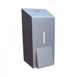 Дозатор жидкого мыла металлический MERIDA STELLA ECONOMY MINI (матовый) фото, купить в Липецке | Uliss Trade