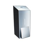 Дозатор жидкого мыла металлический MERIDA STELLA MINI (полированный) фото, купить в Липецке | Uliss Trade