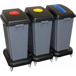 Набор пластиковых корзин для сортировки отходов (60 л х 3) на колёсах фото, купить в Липецке | Uliss Trade