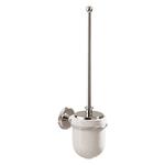 Щетка санитарная настенная MERIDA HOTEL с керамическим держателем, с стальной крышкой фото, купить в Липецке | Uliss Trade
