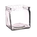 Банка квадратная д/подачи стекло 10*10*10см, 600мл P.L. фото, купить в Липецке | Uliss Trade