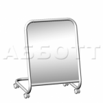 Зеркало примерочное напольное для обуви на колесах 5М-04К