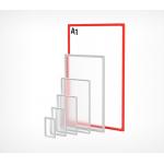 Пластиковая рамка с закругленными углами формата А1 PF-A1