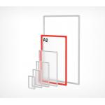 Пластиковая рамка с закругленными углами формата А2 PF-A2