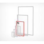 Пластиковая рамка с закругленными углами формата А3 PF-A3