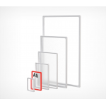 Пластиковая рамка с закругленными углами формата А5 PF-A5