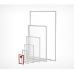 Пластиковая рамка с закругленными углами формата А6 PF-A6