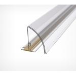 Закругленный полочный профиль с высотой вставки 30 мм PRO30
