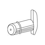 Полкодержатель, хром, используется для установки светильника ОКТА.Софит / 328.OTV