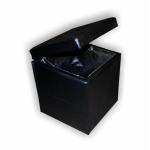 Банкетка куб (черный) с откидной крышкой BN-011