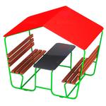 Столик для детской площадки с крышой фото, купить в Липецке | Uliss Trade