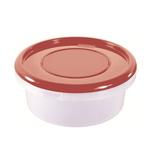 Контейнер для продуктов круглый 0,9 л 15,5*6,5см п/п бордовый фото, купить в Липецке | Uliss Trade